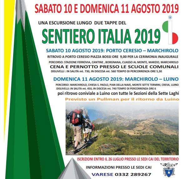 Cai Varese, due giorni di escursioni sul Sentiero Italia Cai