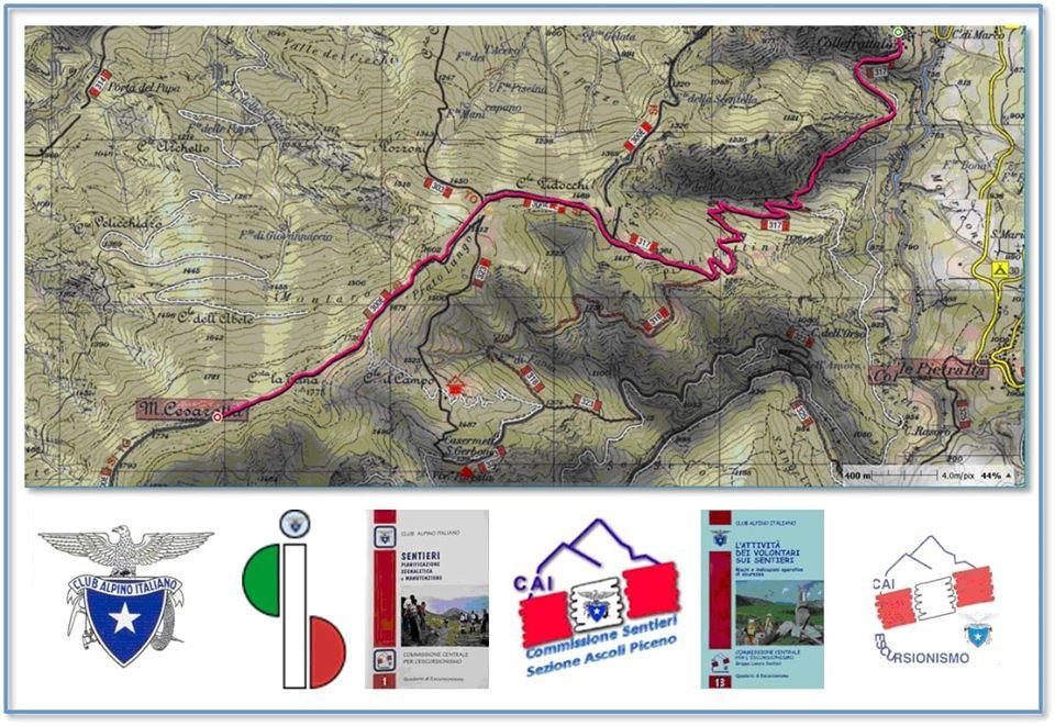 Domenica verrà sistemata la segnaletica del Sentiero Italia CAI sulla Cresta San Paolo
