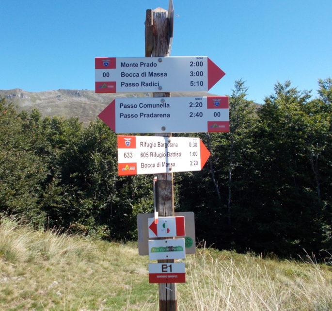 cartello sentiero italia