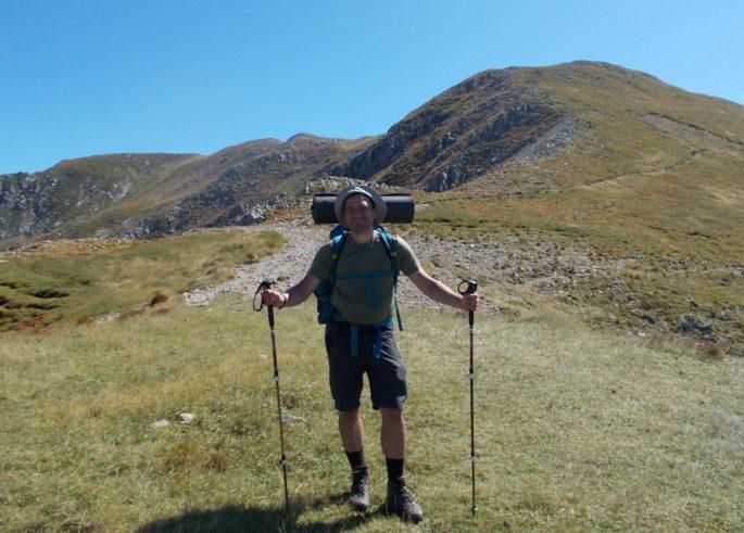 marcin sul sentiero italia