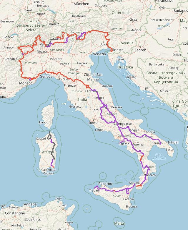 Mappa Sentiero Italia Cai