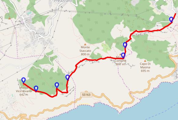 Escursione il 26 gennaio: Alta via dei Monti Lattari – Sentiero Italia