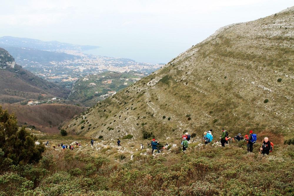 La carica dei 101 sull'Alta via dei Monti Lattari in Campania