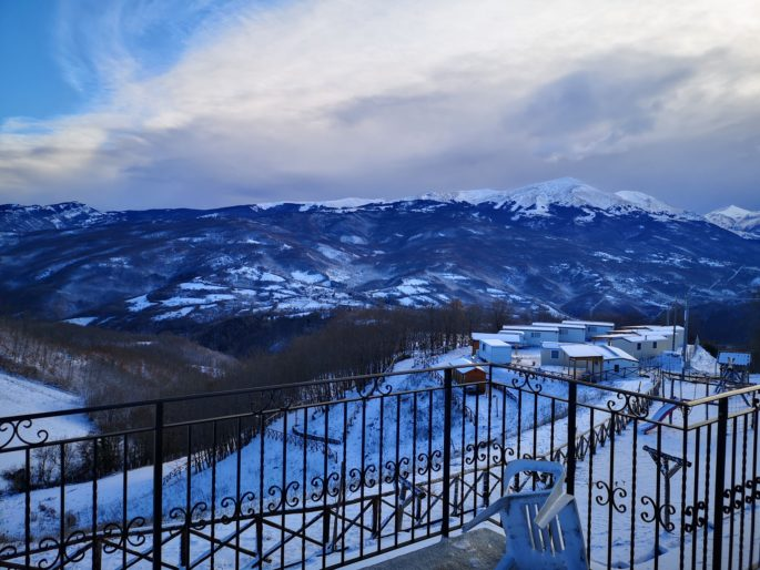 Il paesaggio innevato, agriturismo Alta Montagna bio s.s., Punto Accoglienza