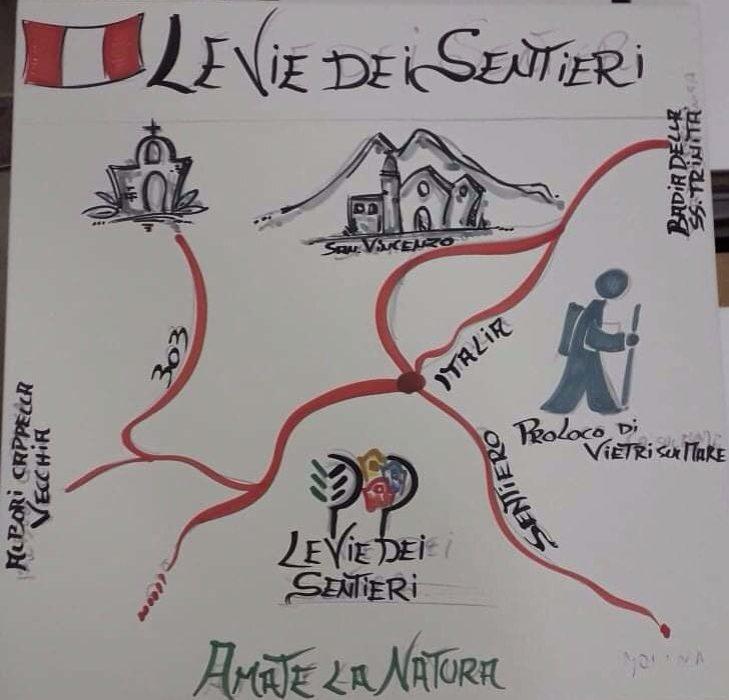 """""""Il Sentiero Italia è una cosa meravigliosa"""", la Pro Loco di Vietri in Costiera amalfitana"""