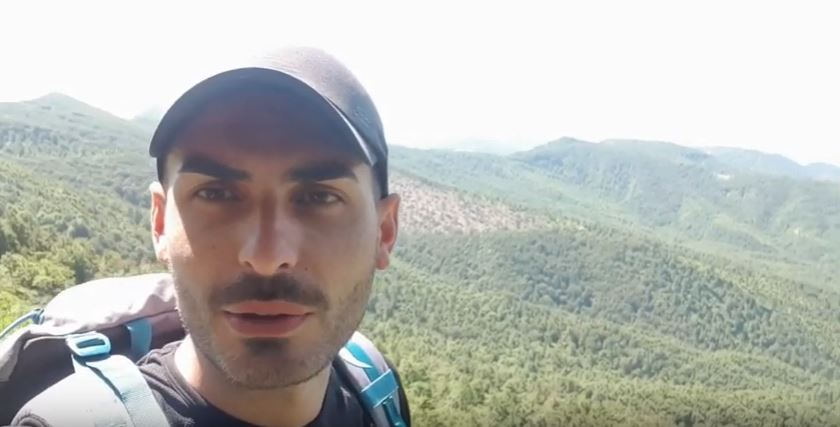 Il geologo Farinelli e il suo video per raccontare una tappa in Appennino