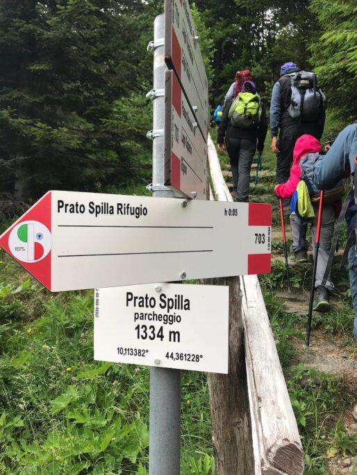 sentiero italia cai, segnaletica, appennino parmense