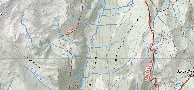 Scarica la cartografia digitale completa del Sentiero Italia CAI