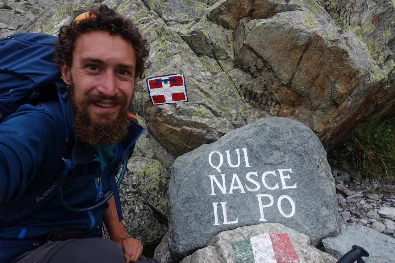 Elia Origoni, dalle Alpi Marittime alla Valle d'Aosta passando per le sorgenti del Po